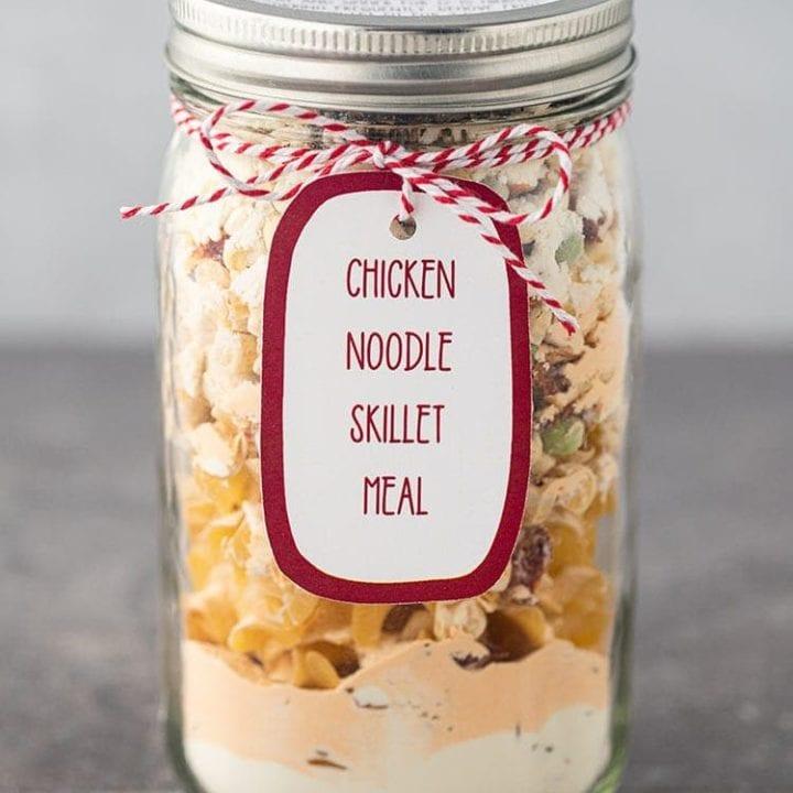 Chicken Noodle Skillet Meal in a Jar