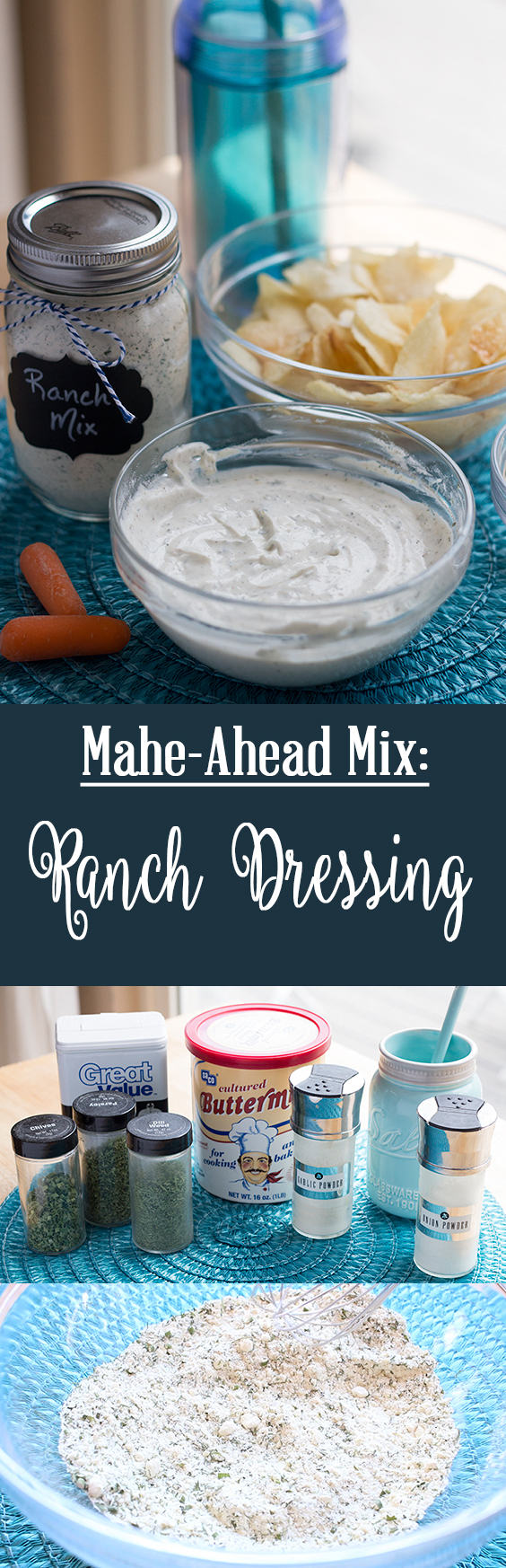 Make your own ranch dressing mix! No fillers, no chemicals - just real food ingredients. Easy and cheap!