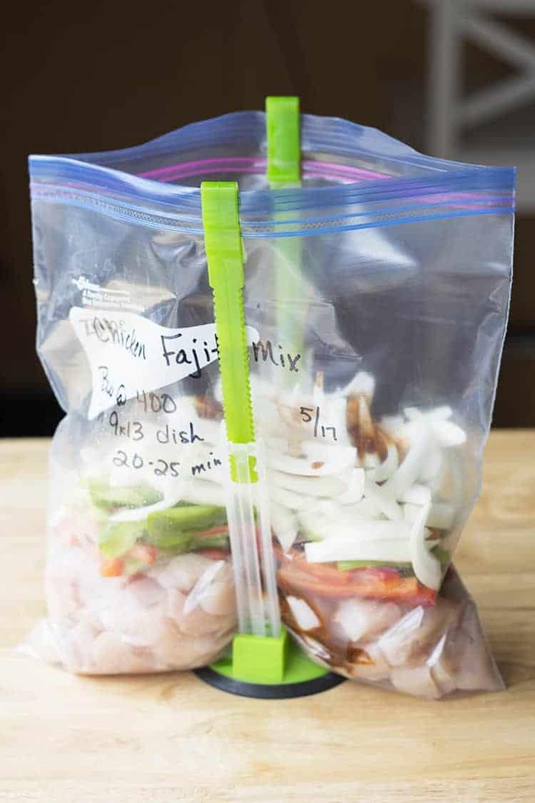 freezer meal recipe chicken fajitas