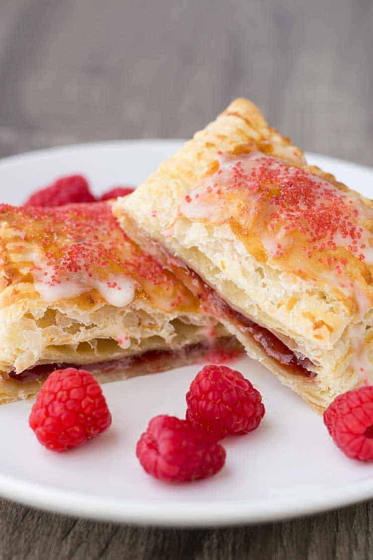 Easy Breakfast Pastries Cut