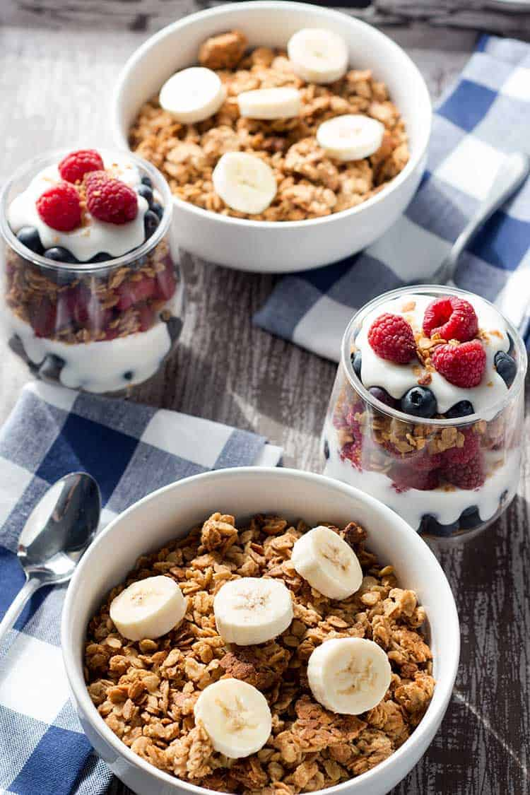 Easy Peanut Butter Granola Cereal