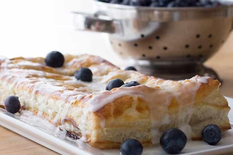 easy freezer blueberry danish