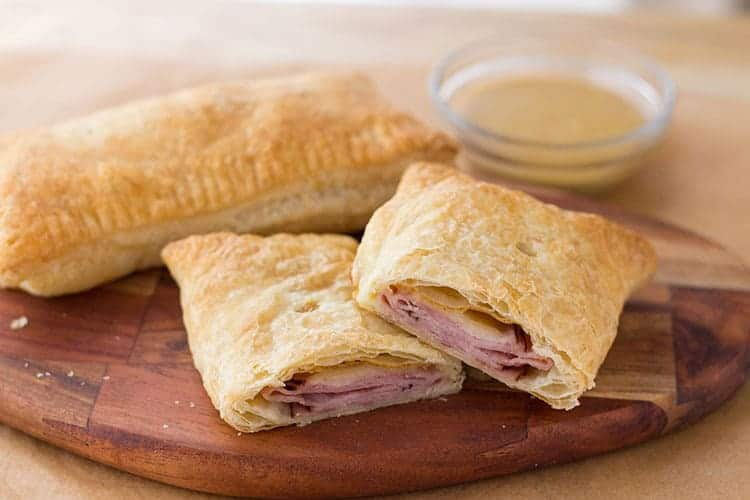 Ham & Swiss Puff Pockets