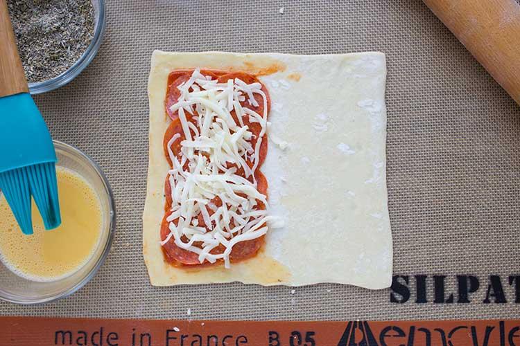 Pizza Puff Pockets Make Ahead Meal Mom