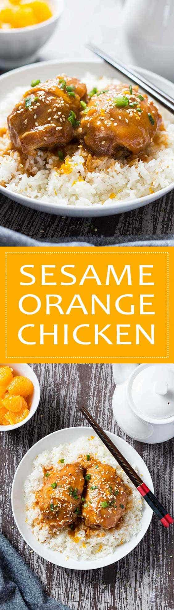 Sesame Orange Chicken | This easy slow cooker dish is a spin on a classic Chinese take-out dish, but without the take-out hassle or the take-out price!