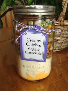 Meal in a Jar: Creamy Chicken Veggie Casserole | An easy meal to put together, and even easier to cook up!