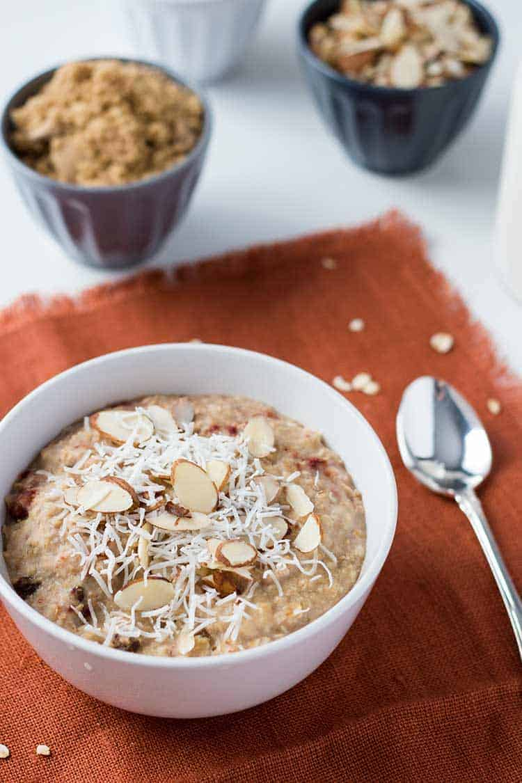 Instant Oatmeal Tropical Overhead