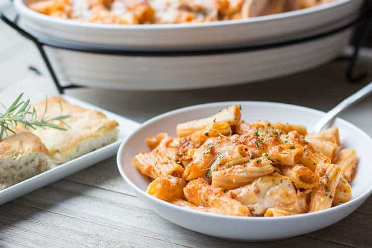 Baked Sausage & Cheese Rigatoni