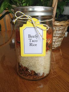 Meal in a Jar: Beefy Taco Rice | A great meal to keep on hand, this one makes up quickly and is hearty and filling. It's even liked by my kids!