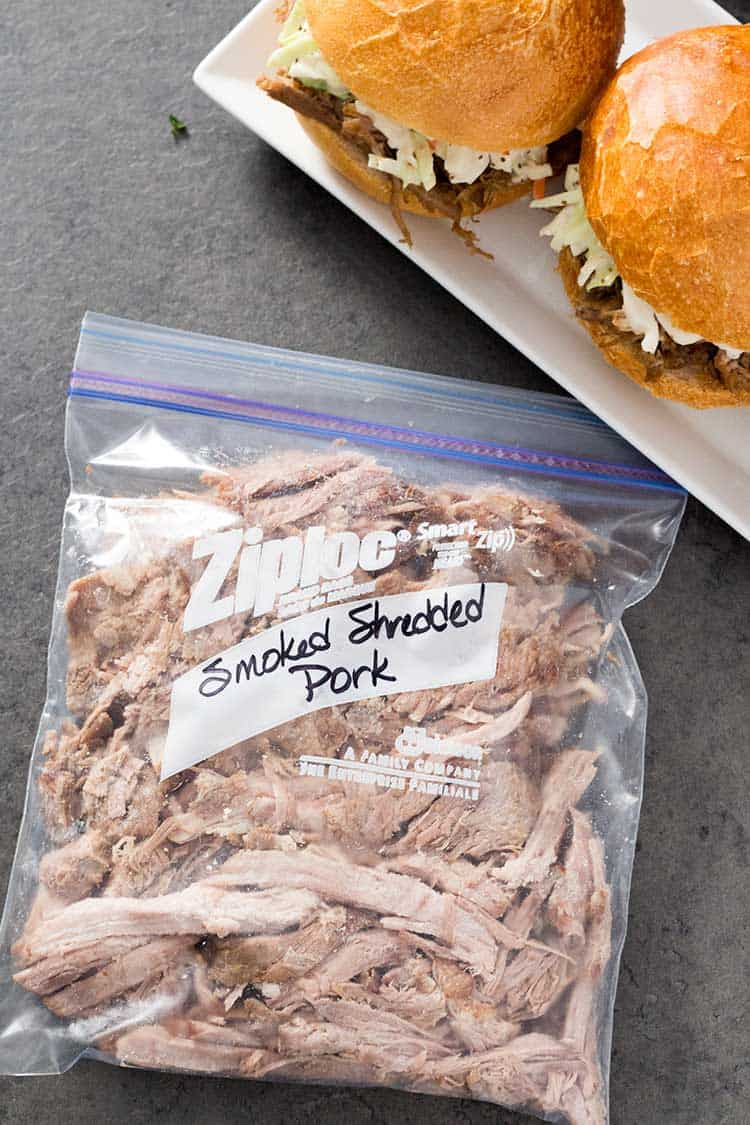 Easy Smokey Pulled Pork in freezer bag