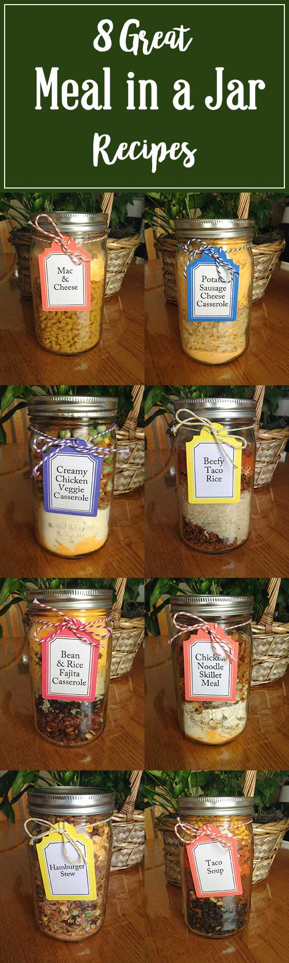 Eight Great Meal In A Jar Recipes Make Ahead Meal Mom