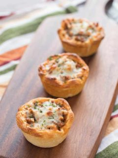 Savory Italian Biscuit Cups after final bake, arranged on cutting board
