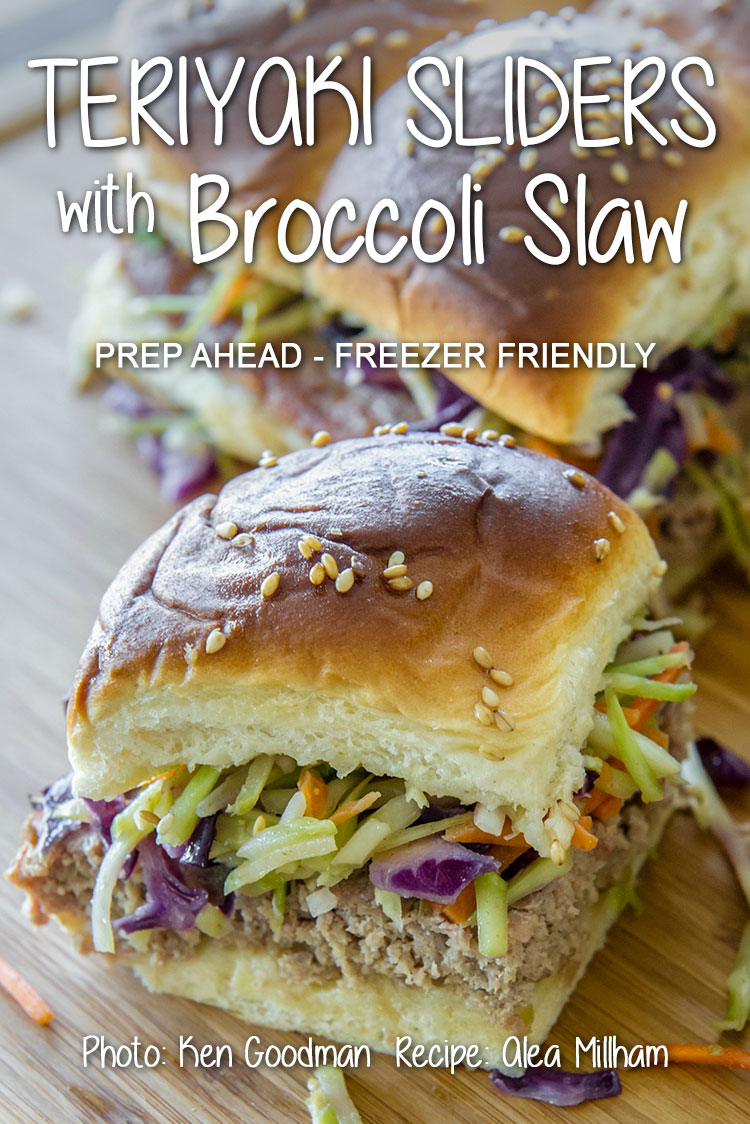 An Asian-inspired variation on traditional sliders, these Teriyaki Sliders with Broccoli Slaw can be prepared in advance for parties, picnics or potlucks. They are freezer-friendly and work wonderfully for meal prep!