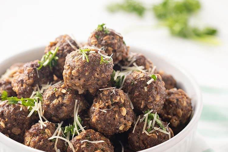 Easy Gluten-Free Dairy-Free Baked Freezer Meatballs