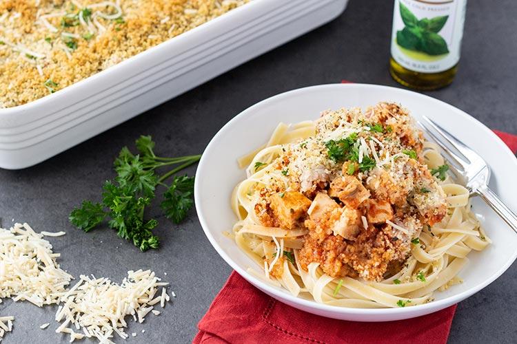 Freezer-Friendly Easy Chicken Parmesan Bake
