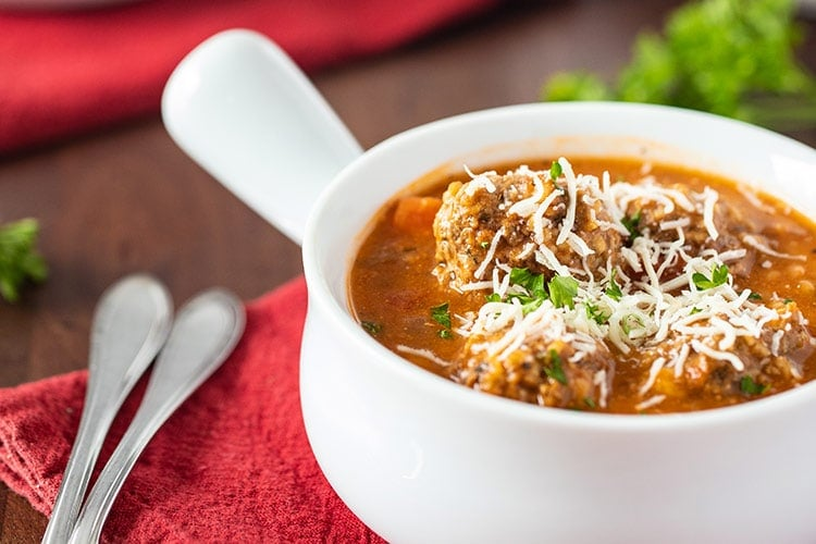 Instant Pot Hearty Meatball Soup
