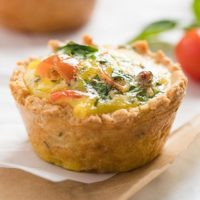 Low-Carb Mini Quiches with Almond Flour Crust