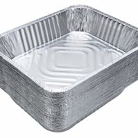 "DOBI (30-Pack) Aluminum Pans 9"" x 13"" - Disposable Aluminum Foil Trays for Baking, Cooking or Lining Deep Steam Table Pans"