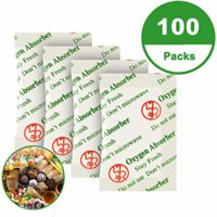 100CC (100-Pack) Food Grade Oxygen Absorber Packets for Long Term Food Storage