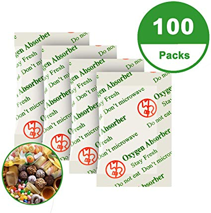 100CC (100-Pack) Food Grade Oxygen Absorber Packets